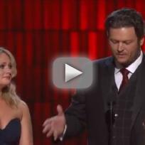 Blake Shelton, Miranda Lambert Acceptance Speech (2012 CMAs)