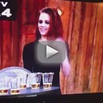 Kristen Stewart Chugs Beer