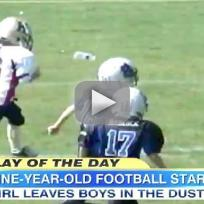 Girl Football Player, 9, Dominates Boys