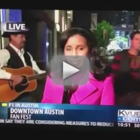 Drunk Lady Video Bombs Reporter