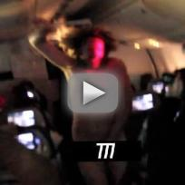 Streaker on Rihanna Tour Plane