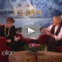 Justin Bieber Plays with Ellen