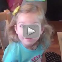 Adorable Girl Reacts to Disneyland Birthday Present