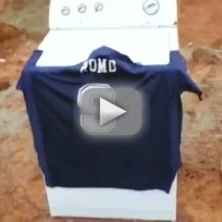 Cowboys fan blows up romo jersey