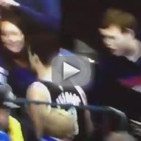 Kris humphries sweats grosses out fan