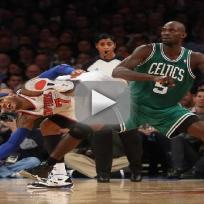 Carmelo anthony waits for kevin garnett