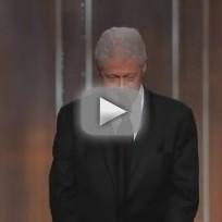 Bill Clinton at Golden Globes