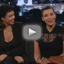 Kim and Kardashian and Kourtney Kardashian on Jimmy Kimmel Live