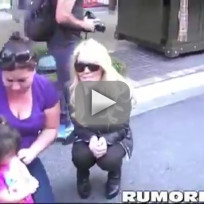 Dina Lohan Drunk at the Grove