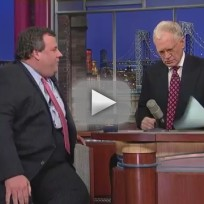 Chris Christie on Letterman