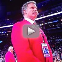 Will Ferrell Poses as Lakers Security Guard