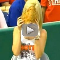 Ball Girl Gives Away Fair Ball