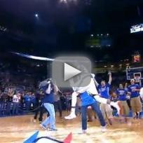 Kevin Durant Tackles Fan in Celebration