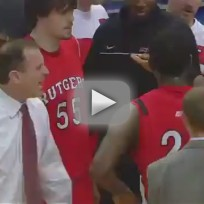 Mike Rice Flips Out as Rutgers Players