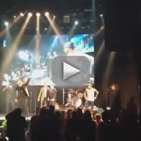 Seth Rogan Performs with The Backstreet Boys
