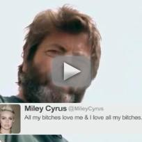 Nick offerman reads tweets from young female celebs