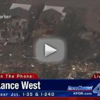 Reporter cries at oklahoma tornado scene