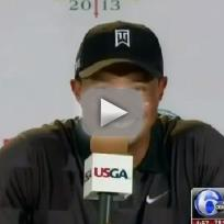 Tiger Woods, Niece at Press Conference