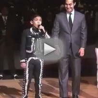 Sebastien De La Cruz Sings National Anthem