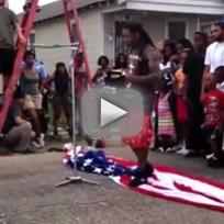 Lil Wayne American Flag Stomping