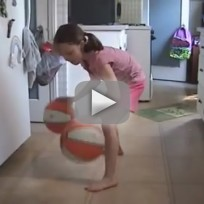 Eight-Year-Old Girl: Dribbling Skills!