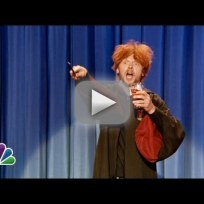 "Drunk Ron Weasley ""Sings"" Happy Birthday to Harry Potter"