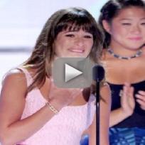 Lea Michele Teen Choice Awards Speech