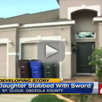 Man Stabs Daughter with Sword