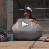 Josh duhamel wears giant scrotum