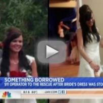 911 Responder Loans Robbed Bride Wedding Dress