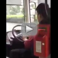 Bus Driver Clips Nails on Bus