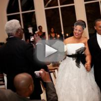 Plus Size Bride Wrapped In Elastic To Try On Gowns