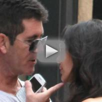 Simon Cowell, Lauren Silverman on Vacation
