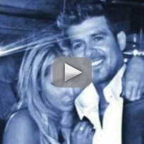 Robin thicke grabs headlines fans butt