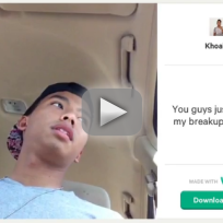 Breakup goes viral on vine