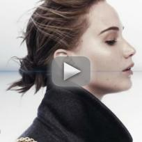 Jennifer Lawrence Without Makeup For Dior