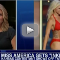 Miss Kansas Shows Off Tattoos in Miss America Pageant