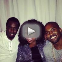 Kim Kardashian Parties with Oprah