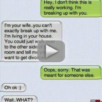 Husband Texts Wife Instead of Mistress?