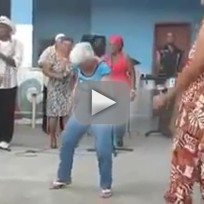 Sexy Granny Salsa Dances For Young Men
