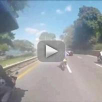 Bikers Attack SUV