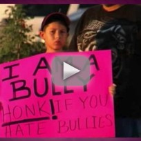 Dad Shames Son With Anti-Bullying Sign