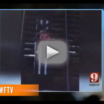 Breast Cancer Awareness Walker Gets Stuck on Bridge