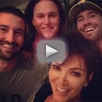 Kris Jenner Poses with Stepchildren, Bruce