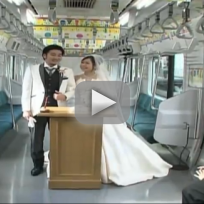 Couple Gets Married in Train Car
