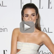 Lea michele skinny on first red carpet since tragedy