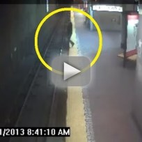 Woman Sleepwalks Off Subway Platform