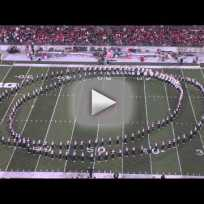Ohio State University Marching Band Performs Hollywood Show