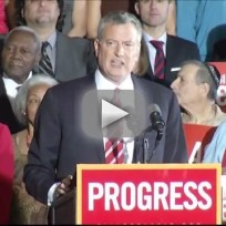 Bill de Blasio Elected Mayor of New York City