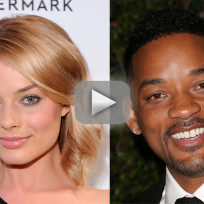 Will smith and margot robbie touch chests